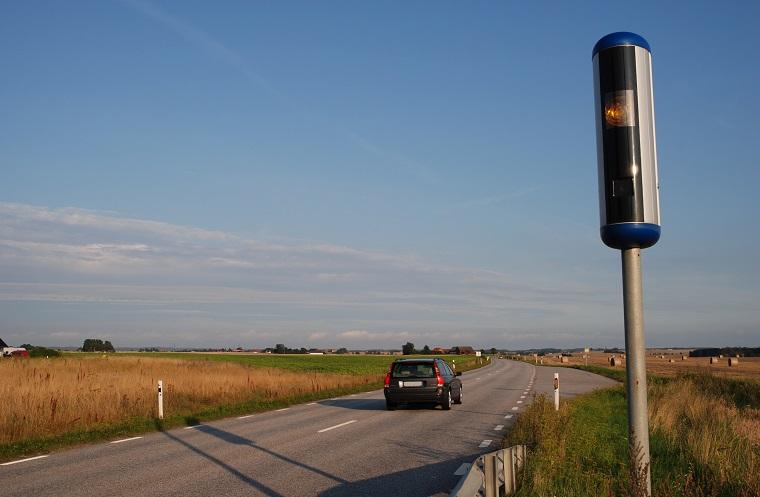 Fotoradar na drodze w Szwecji