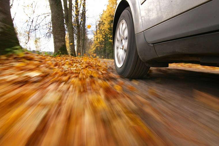 Jazda samochodem jesienią