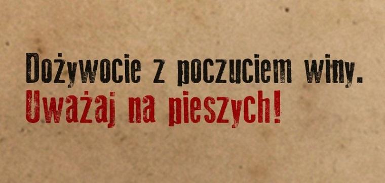 Plakat kampanii społecznej PDB - Uważaj na pieszych
