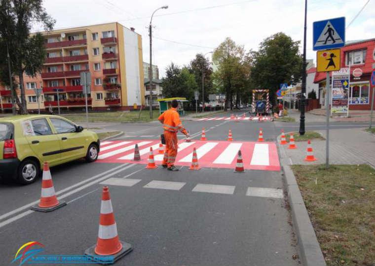 Przejście dla pieszych w Płocku. Fot. ZDM Płock