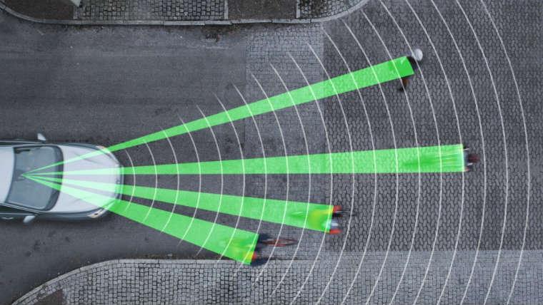 Cyclist detection - system Volvo zapobiegający kolizjom z rowerzystami Fot. Volvo