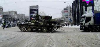 Holowanie ciężarówki w Rosji