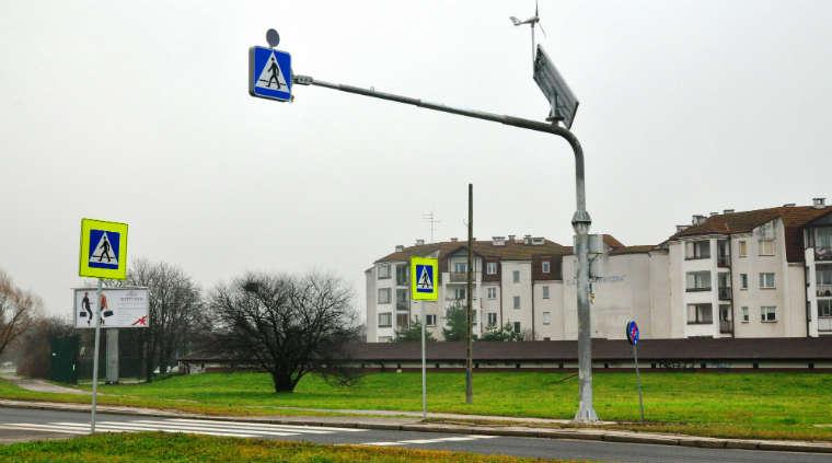 Przejście dla pieszych w okolicy węzła Puławska na Południowej Obwodnicy Warszawy