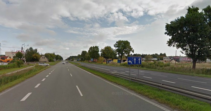 Droga krajowa nr 7 w Sękocinie. Fot. google maps