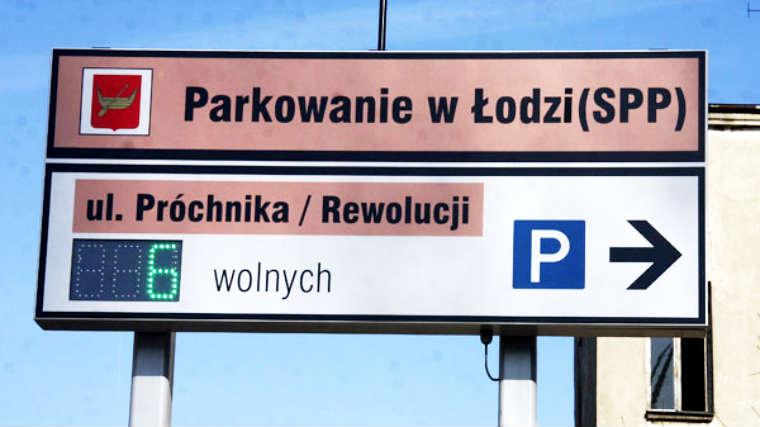 System informacji parkingowej w Łodzi. Fot. UM Łódź