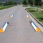 Oznakowanie 3D na drodze w USA w 2007 r. Fot. six-eight enterprises