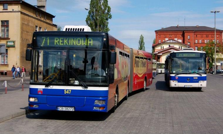 Autobus miejski w Bydgoszczy. Źródło: ZDMiKP Bydgoszcz