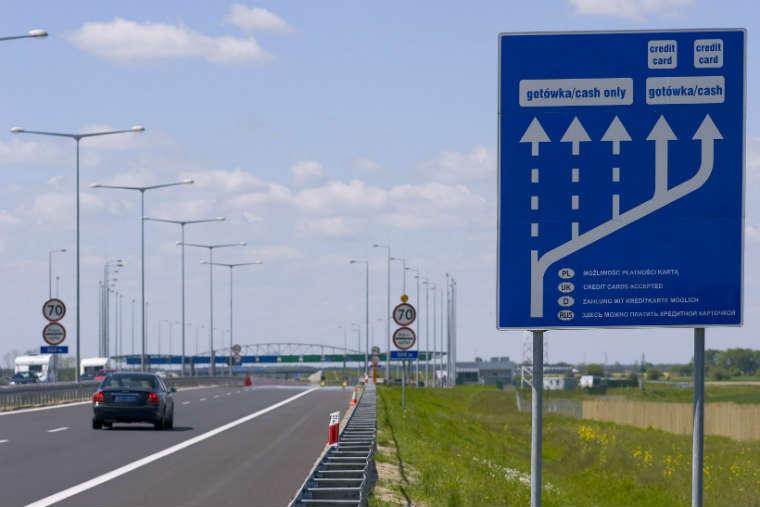 Punkt poboru opłat na Autostradzie Wielkopolskiej. Źródło: Autostrada Wielkopolska