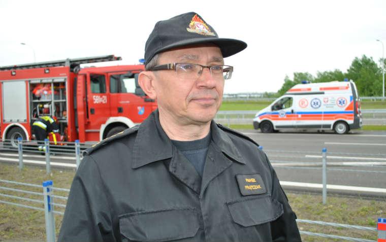 Paweł Frątczak, rzecznik Komendanta Głównego Państwowej Straży Pożarnej. Fot. Łukasz Zboralski/brd24.pl