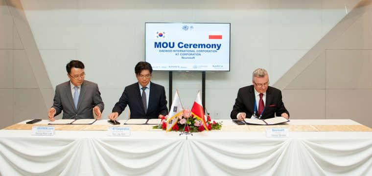 Firma Neurosoft podpisałą porozumienie o współpracy z Korean Telecom i Daewoo International