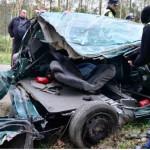 Wypadek w Klamrach pod Chełmnem. Fot. Policja