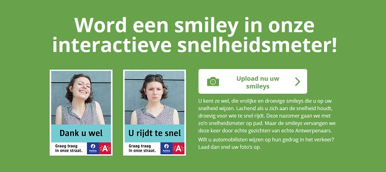 Portal do zgłaszania selfie na znaki drogowe w Belgii. Źródło:graagtraag.be