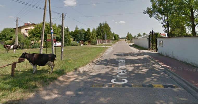 Kuklówka Zarzeczna w gminie Radziejowice. Źródło: google maps