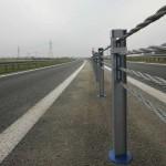 Obwodnica Kobylanki, Morzyczyna i Zieleniewa na drodze krajowej nr 10 została rozdzielona barierą linową. Fot. GDDKiA
