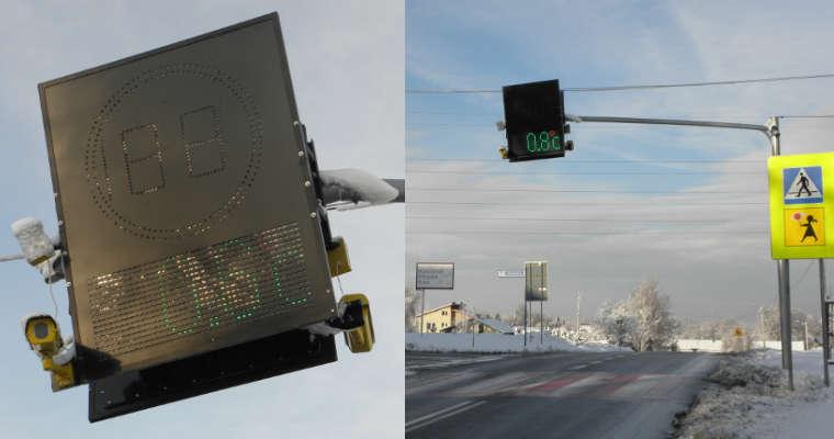 Interaktywne znaki z radarami w gminie Tarnów. Fot. UG Tarnów