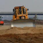 Budowa autostrady A2 w 2009 r. Fot. GDDKiA