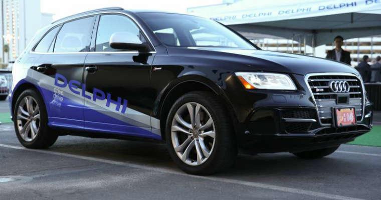 Autonomiczny samochód Delphi Automotive na bazie Audi Q5. Źródło: Dephi Automotive