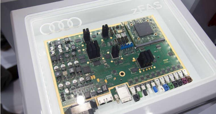 zFAS - komputer do autonomicznych pojazdów Audi. Fot. Audi