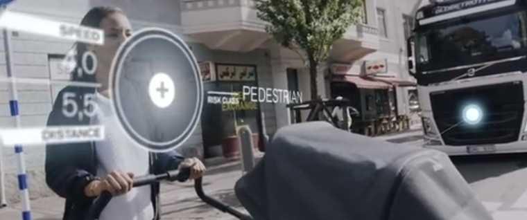 Kadr z filmu przedstawiającego nowy system Volvo, źródło: Volvo Trucks