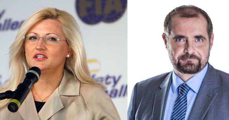 Beata Bublewicz i Aleksander Pociej. Fot. Fot. Marcin Kaliszka/RallyFoto.pl oraz archiwum senatora