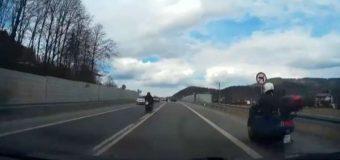 Szaleni motocykliści sfilmowani na Śląsku