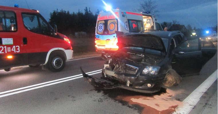 Wypadek w Koszarówce (Podlaskie) Fot. Arkadiusz Lichota, KP PSP w Grajewie