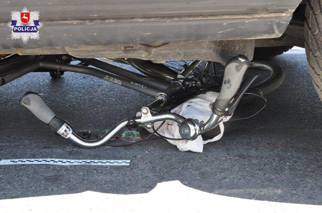 Land Rover potrącił rowerzystkę w Bielsku Białej