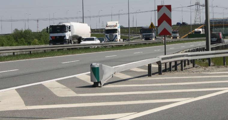 Zakończenie bariery typu SafeEnd Źródło: Saferoad