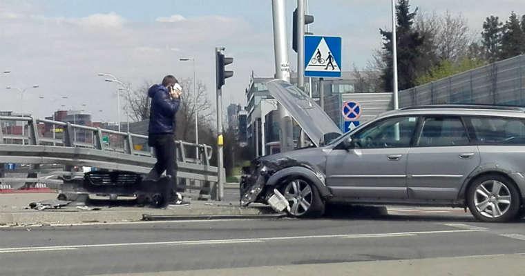 Kolizja w Warszawie. Fot. brd24.pl
