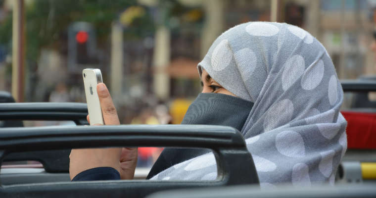 Kobieta w burce, muzułmanka. Fot. CC0