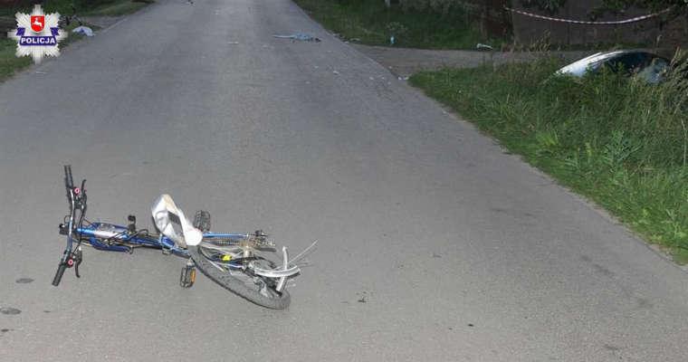 Potrącenie rowerzystek w miejscowości Polichna Fot. policja.pl