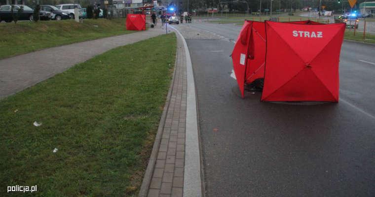 Śmiertelne potrącenie pieszych w Białymstoku. Źródło: policja.pl