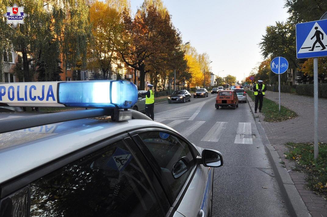 Potrącenie pieszych w Białej Podlaskiej. Fot. Policja