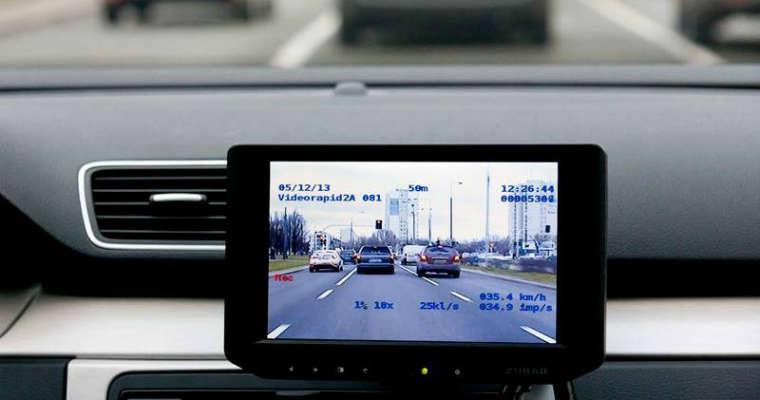 Wideorejestrator Videorapid 2A użuwany przez polską policję. Źródło: Policja.pl