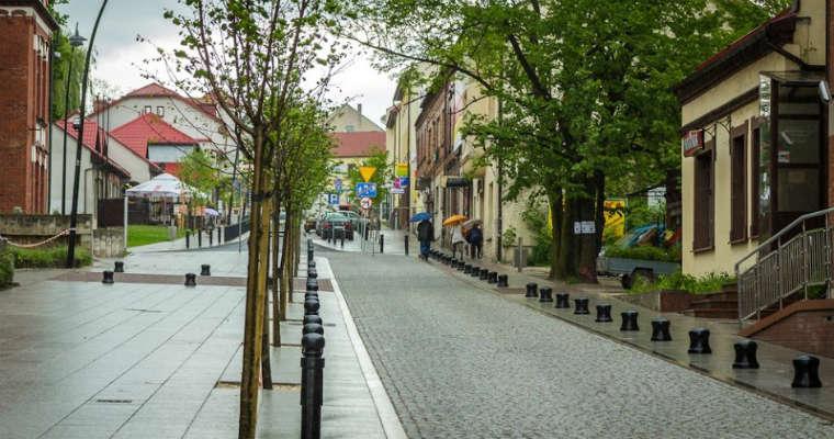 Skameralizowana ulica Mickiewicza w Jaworznie. Fot. Miejski Zarząd Dróg i Mostów w Jaworznie