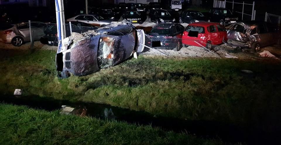 Wypadek w Jadownikach. Źródło: Facebook OSP Jadowniki