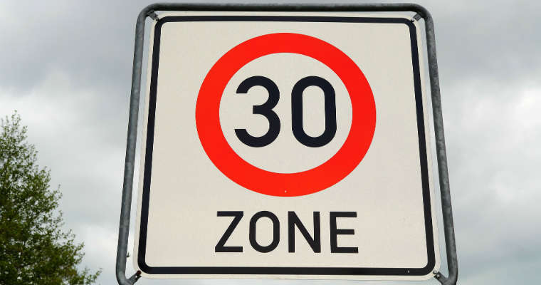 Organizacje zajmujące się BRD w Europie apelują o rozszerzania stref tempo 30. Fot CC0