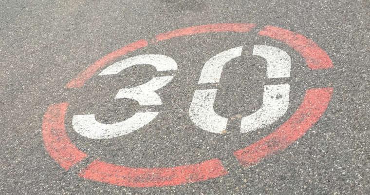 "Strefa ""tempo 30"". Fot. CC0"