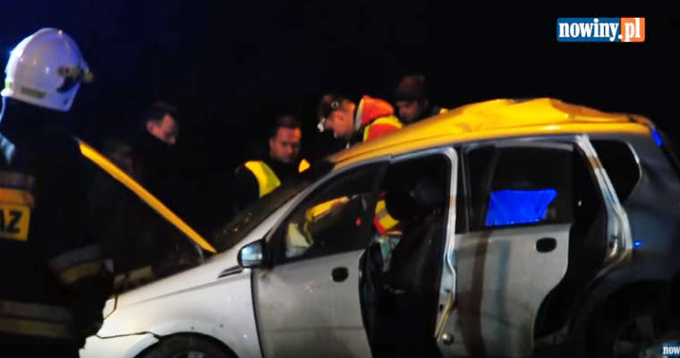 Wypadek w Czerwionce. Źródło: YouTube/Nowiny.pl