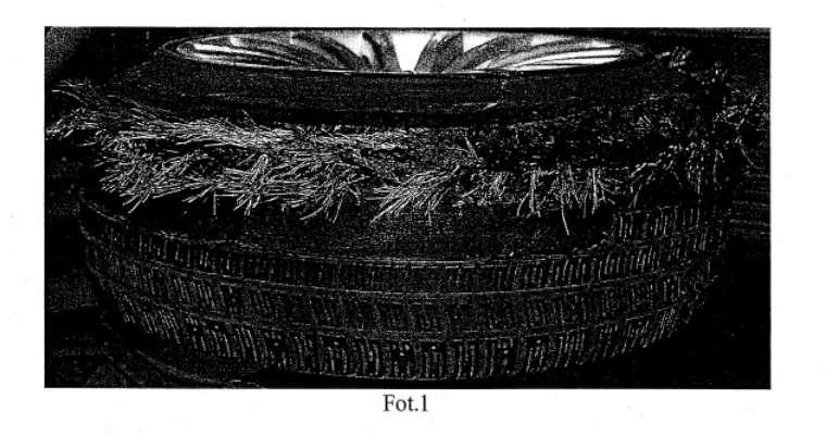 Prawa przednia (jedyna sprawna) opona z prezydenckiej limuzyny BMW po eksperymencie biegłych nie rozpadła się Źrodło: analiza biegłych STOMIL