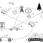 Schemat działania autonomicznego radiowozu przedstawiony przez Forda we wniosku patentowym. Fot. US Patent and Trademark Office