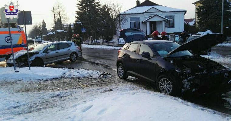 Wypadek w Tomaszowie Lubelskim. Fot. Policja