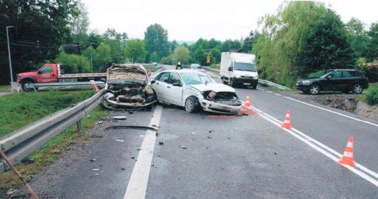 Wypadek, w którym wziął udział Henryk Koszałka wydarzył się na zakręcie w miejscowości Wyżne. Fot. arch. opinii biegłych