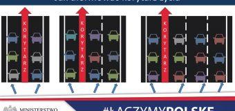 Korytarz życia na autostradach. Ministerstwo wprowadzi przepis i wyedukuje kierowców