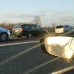 Autostrada A2, kolizja samochodów. Fot. brd24.pl