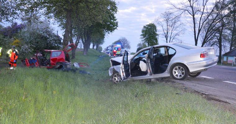 Śmiertelny wypadek w miejscowości Siedliszcze (Lubelskie). Fot. KMP w Chełmie