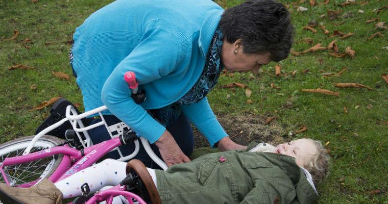 Wypadek dziecka na rowerze.Fot. CC0
