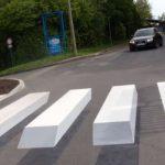 Przejście dla pieszych 3D w Schmalkalden w niemieckiej Turyngii. Fot. Screen z wideo MDR Thüringen