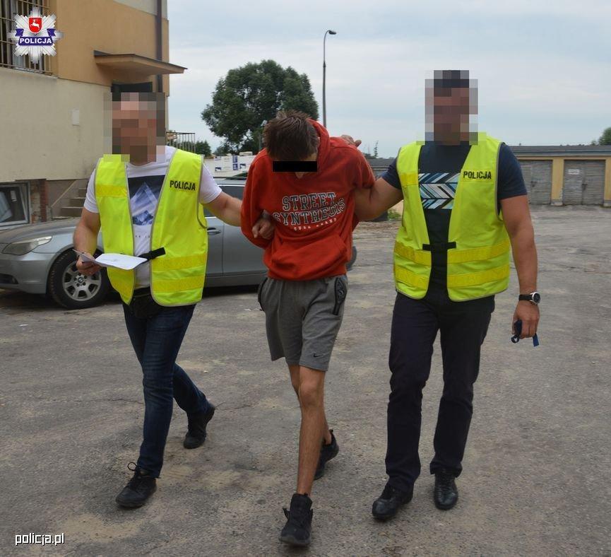 Sprawca wypadku z pieszymi w Biłgoraju został aresztowany na 3 miesiące. Fot. policja