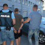 Pijany Ukrainiec jeździł po molo w Brzeźnie. Fot. policja
